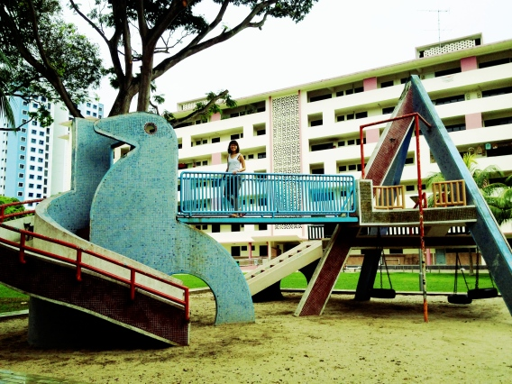 The dove shaped sand playground