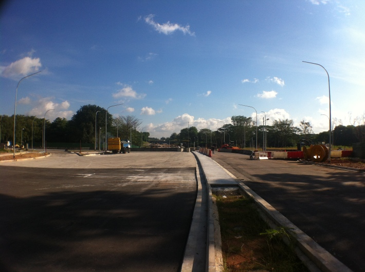 Construction of the new Seletar Road Extension