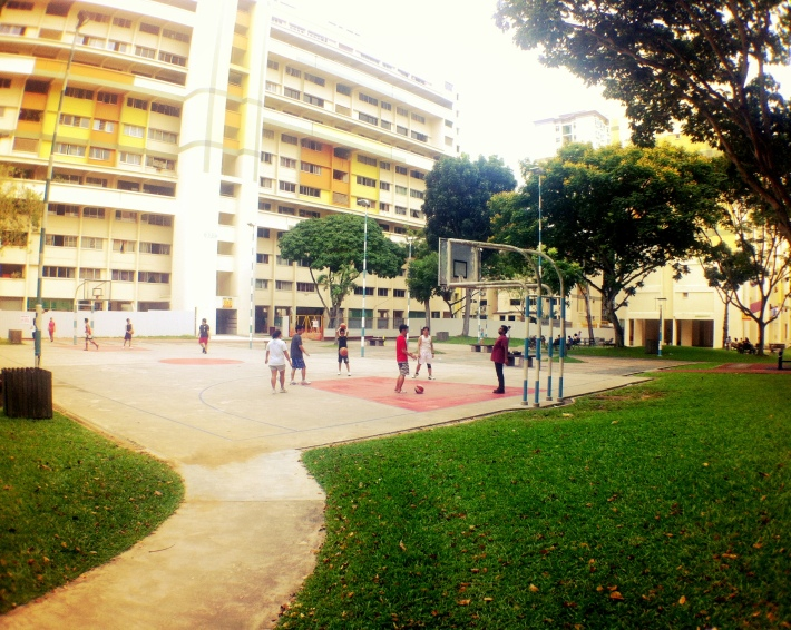 Basketball court soccer