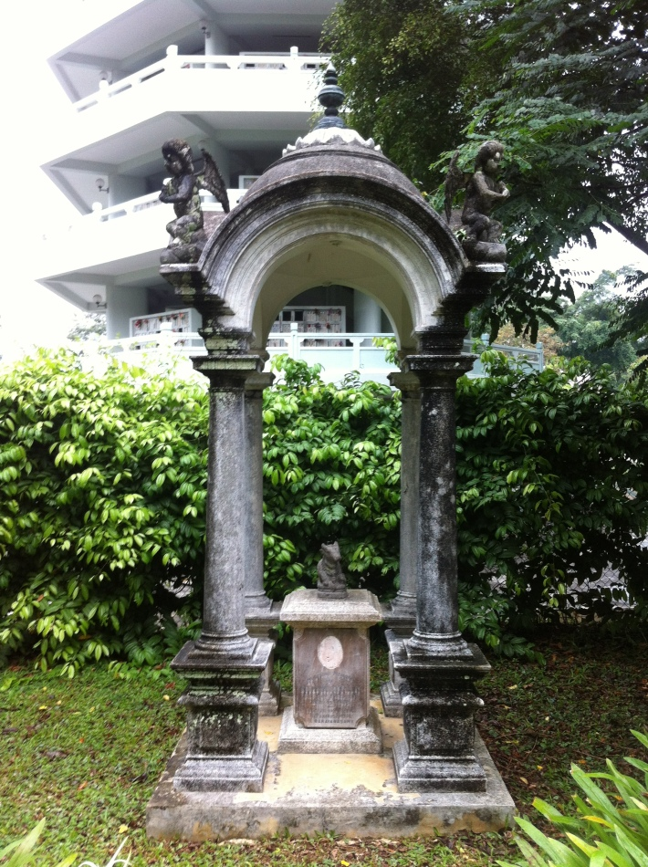 One of the graves located at the Bidadari Gardens