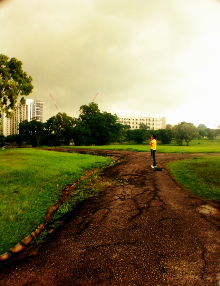 Exercising in Bidadari Park