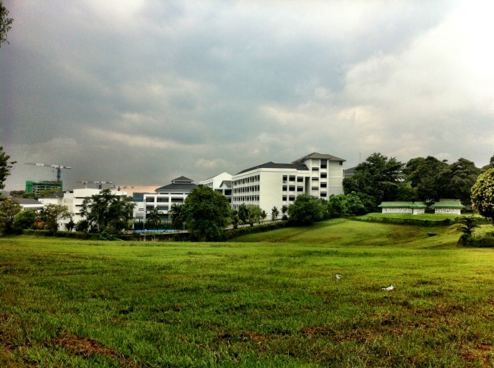 Maris Stella High School sits besides the former grounds of the cemetery