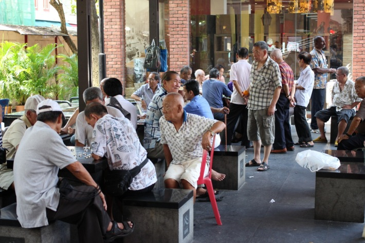 The game of Chinese chess is perhaps best enjoyed with the intensity of surrounding onlookers