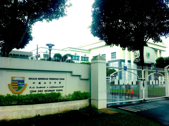 One of Singapore's prominent schools, Cedar Girls' Secondary sits at the site of the former Alkaff Gardens