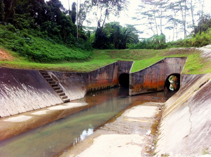 Bukit Timah First Diversion Canal Tunnels measuring 4.2 metres across at the widest diameter each.