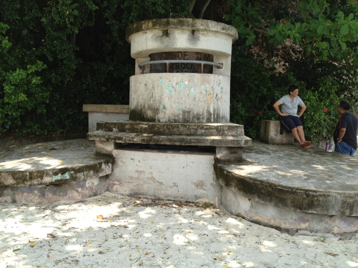 A former gun outpost is part of the many remnants of what was known as Fort Pasir Panjang