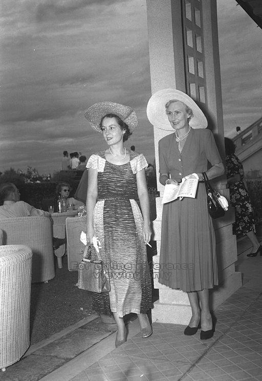 Women Punters at the Singapore Turh Club. Image taken from Singapore Press Holdings, 25 March 1952.