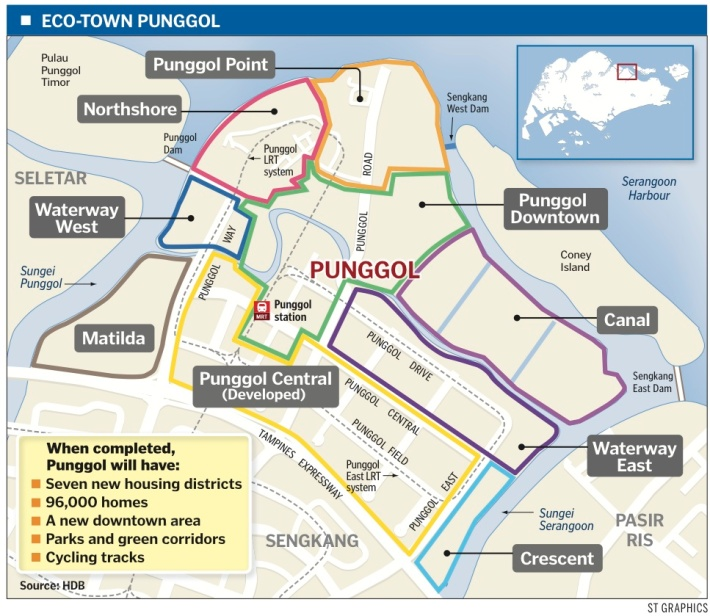 Punggol point is one of the many sites set for development under Punggol 21