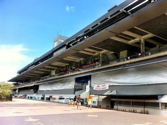 The grandstand that used to accomodate up to 50,000 from 1981 onwards