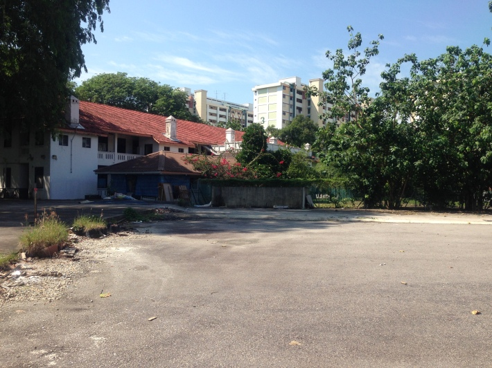 Small signs that the Old Paya Lebar Police Station will be gone sooner rather than later