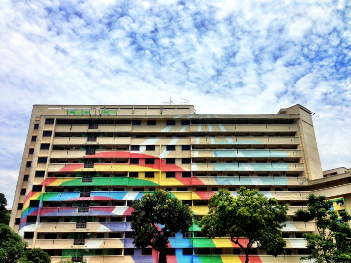 Rainbow Block in Hougang