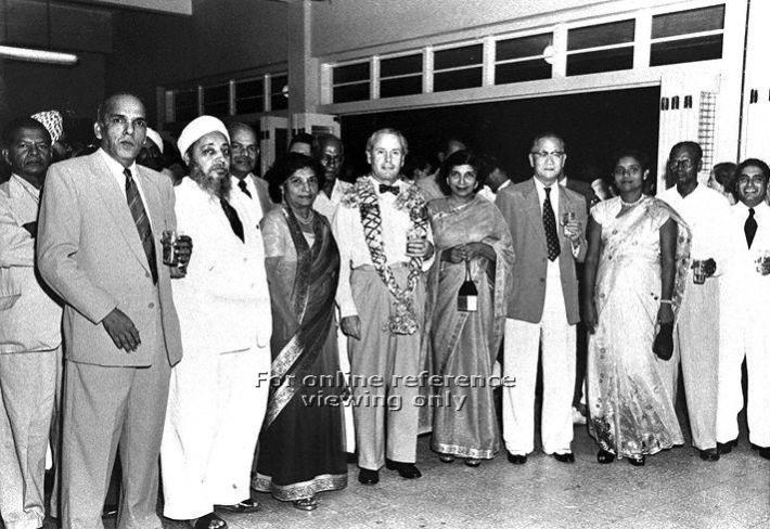 Group photograph taken at farewell reception for British Commissioner General for South East Asia Malcolm MacDonald at Ceylon Sports Club Source:National Archives of Singapore