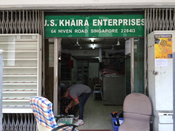 A Sikh owned laundry shop is one of the few Sikh runned stalls still remaining