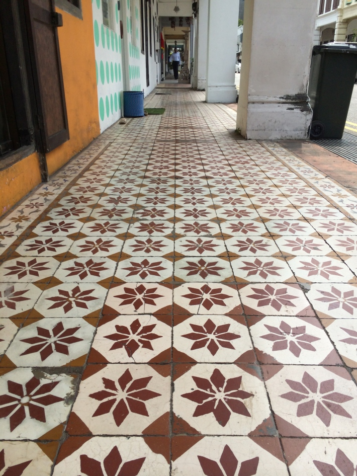 Just some of the many decorative tiles along Niven Road