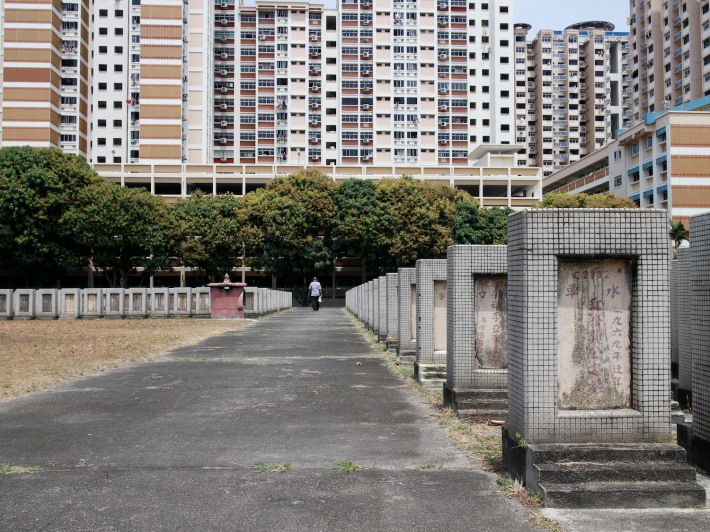 Many residents of Holland Close choose the cemetery as a shortcut through to Commonwealth station