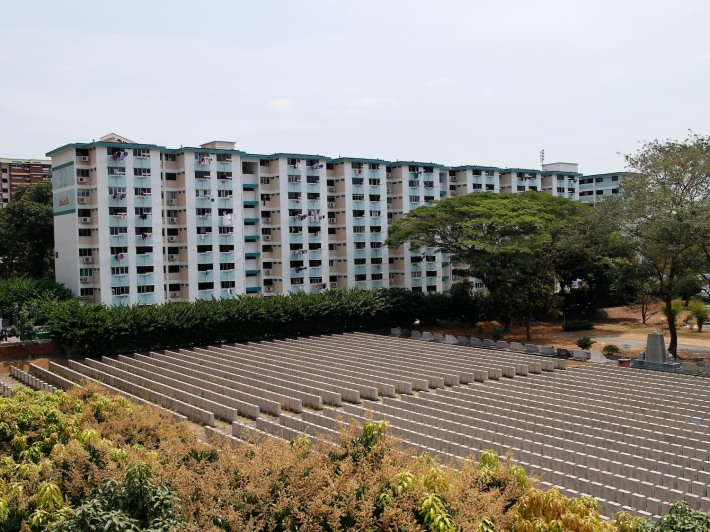 A view of the nearly 3000 graves that line the Hakka Cemetery