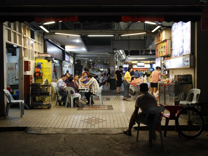 Nightime at Lavender Food Square