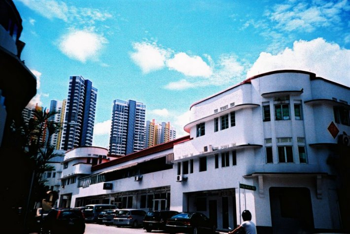 Art Deco inspired apartments/shophouses are still well conserved in Tiong Bahru