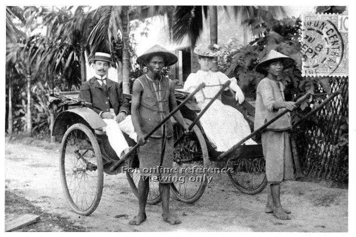 Foreigners and locals alike took the RIckshaw as it was faster and cheaper, a very similar trait we find in Singapore today. Image taken from the National Archives of Singapore.