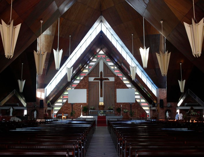 Completed in 1965, the Church of the Blessed Sacrament was designed by Y.G. Dowsett