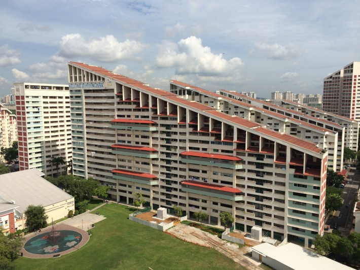 The sloping roofs of Potong Pasir are a uniquely distinguishable characteristic of the neighbourhood that's visible even from the CTE!