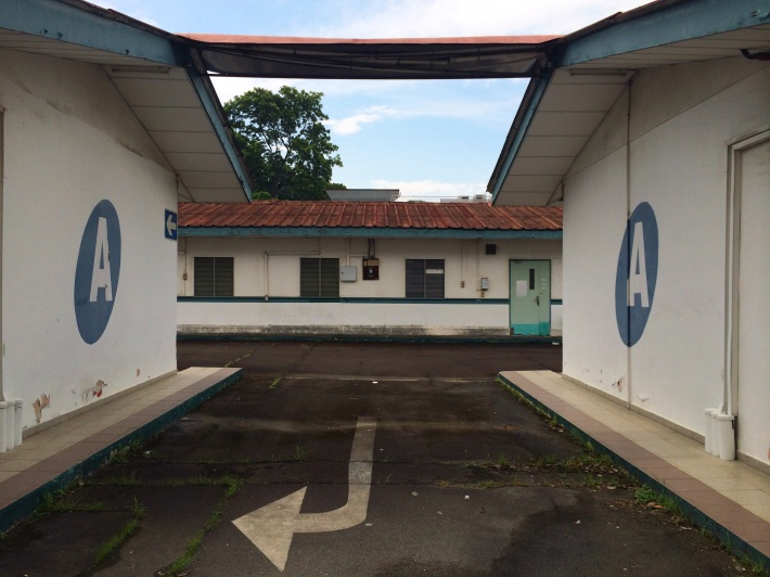 The former quarters of the airport personnel