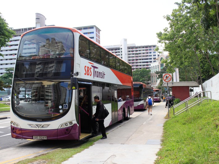 One of the few remaining roadside bus terminals in Singapore still serves as the rest point for services 92, 100, 111 and 563.