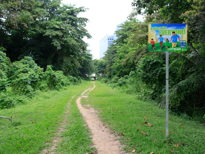 In the past, residents from blocks 9-12 would have heard and seen the KTM trains zoom past daily. Now the area is one of the many exits and entrances to the Green Corridor.