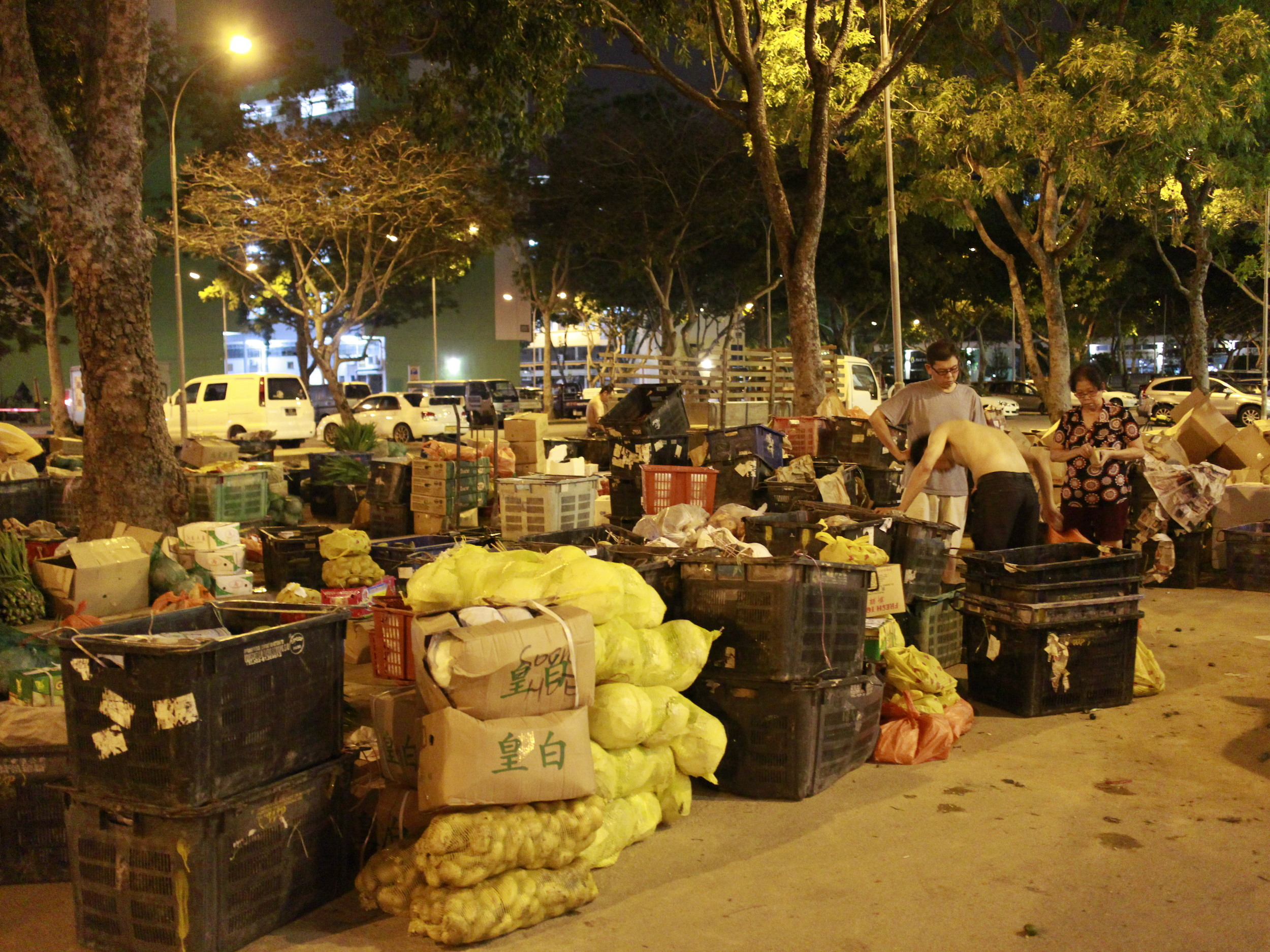 Carpark by day, vegetable market by night | The Lion Raw