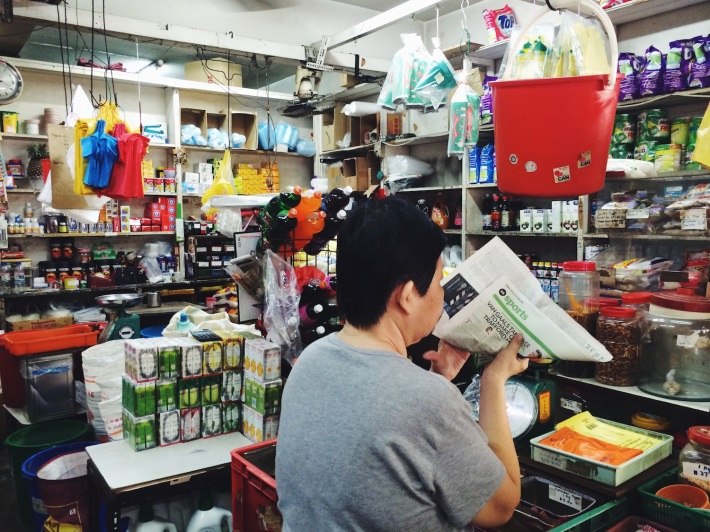 With its trusty money bucket, this provision shop is one of the few shops that have been around since 1962.
