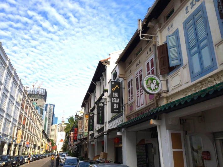 Mosque Street is home to some of the oldest shophouses in Singapore as Chinatown was the place that many early immigrants settled. The ones on the right for example were probably the first transitional forms of shophouses built back in the late 1800's!
