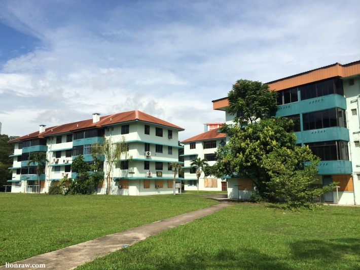 View of the Kampong Silat Estate from Kampong Bahru Road