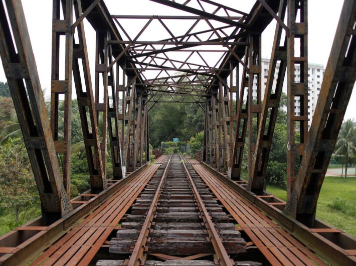 The much photographed Truss Bridge above the Ulu Pandan Canal.