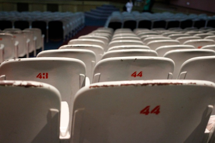 Yesteryear seats of The Golden Theatre