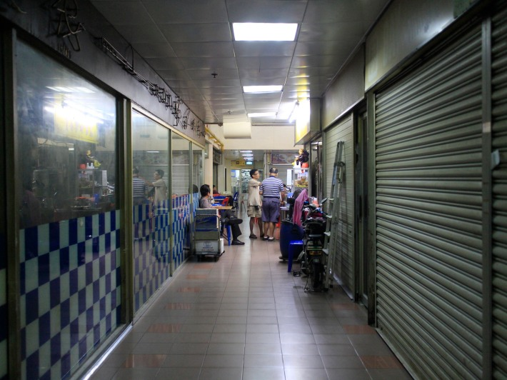 Most shops have either vacated or barely open, which makes for the crowds concentrating on the few eateries that are still open