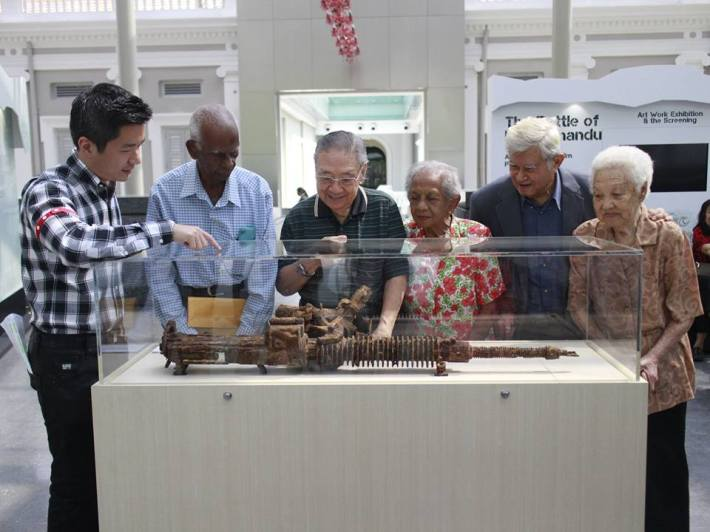 Helen Joseph together with four other wartime survivours were at the launch of the exhibition Battle of Singapore - Case Files from the Singapore War Crimes Tribunal.