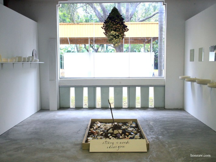 An installation titled Clayground housed in one of the former offices.
