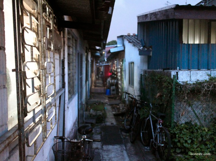 The narrow backyard alleys provide a unique perspective into the lives the people living there.