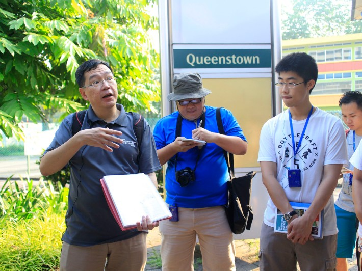 Our guide for the day, Mr Huang Eu Chai, gives a quick brief on the area that he'll be covering.