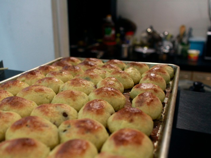 The Pang Suzie, a delicious pastry filled with chunks of flavourful minced meat.