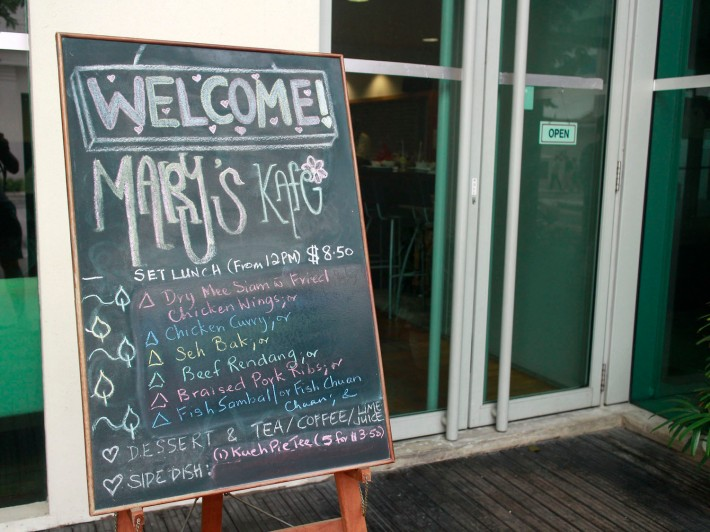 Just to be sure you won't miss Mary's Kafe, just look out for the sign!