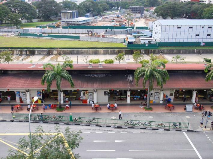 One half (Block 79) of the two famous Circuit Road Hawker Centre. In the background sits the wide-oepn Pelton Canal.
