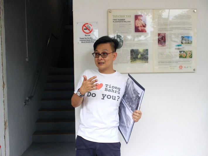 Notable historian Kelvin Ang, himself a resident of Tiong Bahru, leads a group of volunteers who conduct numerous programmes that share about the rich heritage of the area with fellow Singaporeans.