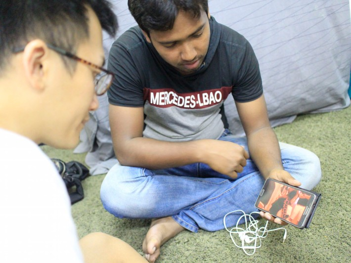 Shujjal, 24, showing a clip of his performance titled 'No Man's Land' that was a feature at the recent edition of OH! Open House – Potong Pasir.