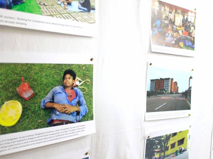 'The Life of Migrant Workers' by Hasanur Reza Zimy, who works at a Shipyard, is a photo exhibition currently on display at Dibashram.
