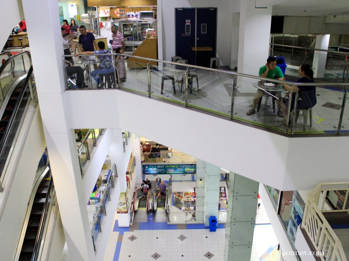 The many shifts and angles help create a wonderful maze as you explore Bukit Timah Shopping Centre